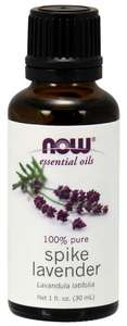 Spike Lavender Essential oil 1 oz NOW FOODS