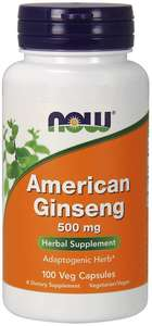 American Ginseng 100 veg caps Now Foods