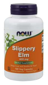 Slippery Elm 100 veg caps Now Foods