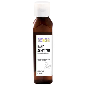 AURA CACIA HAND SANITIZER 4 FL. OZ. 80% alcohol