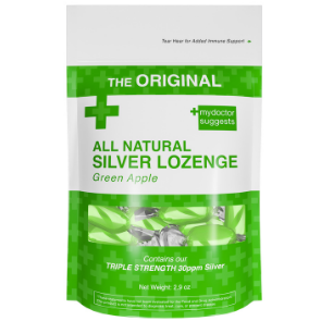 All Natural Silver Lozenge Green Apple - 20ct (Silver Cough Drop)
