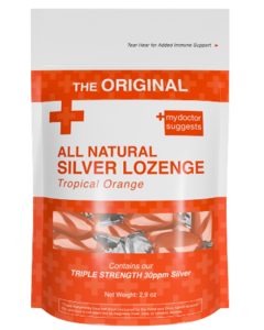 All Natural Silver Lozenge Tropical Orange - 20ct (Silver Cough Drop)