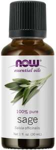 Sage Essential Oil 1oz Now foods
