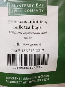 Hibiscus Mint Teabags 1lb