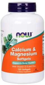 Calcium & Magnesium Softgels Now Foods