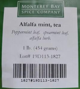 Alfalfa Mint Bulk Tea 1lb
