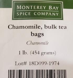 Chamomile Flower Teabags 1lb