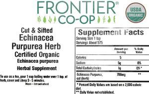 Echinacea Purpurea Herb C/S organic 1lb