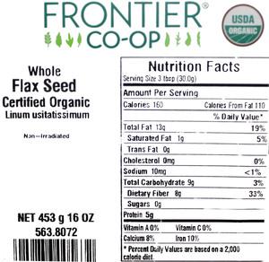 Flax Seed W 1lb