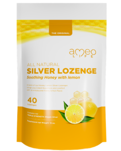 All Natural Silver Lozenge Soothing Honey & Lemon - 40ct (Silver Cough Drop)