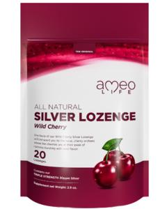 All Natural Silver Lozenge Wild Cherry - 20ct (Silver Cough Drop)