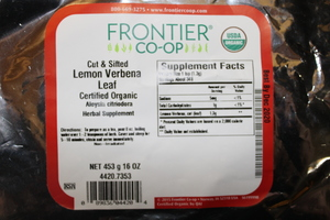 Lemon Verbena Leaf C/S 1lb