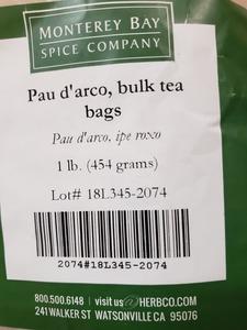 Pau D Arco Teabags 1lb