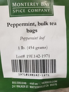 Peppermint Teabags 1lb