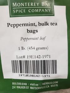 Peppermint Teabags 1lb