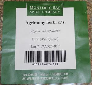 Agrimony Herb C/S 1lb