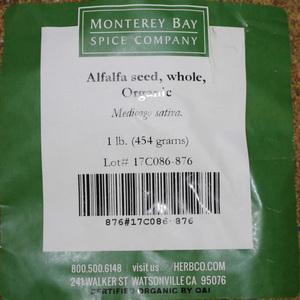 Alfalfa Seed W 1lb