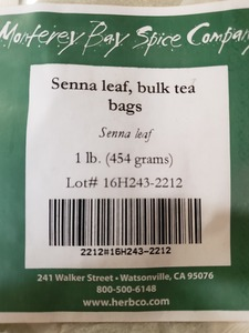 Senna Leaf Teabags 1lb