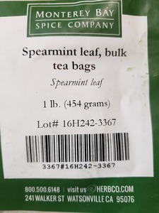 Spearmint Leaf Teabags 1lb