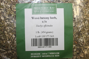 Wood Betony C/S 1lb
