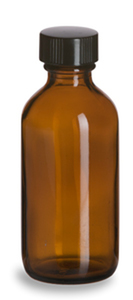 Amber Bottle w/ Lid 2 ounce