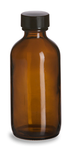 Amber Bottle w/ Lid 4 ounce