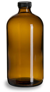 Amber Bottle w/ Lid 32 ounce