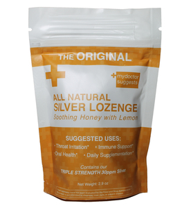 All Natural Silver Lozenge Soothing Honey & Lemon - 20ct (Silver Cough Drop)