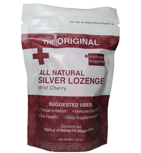 All Natural Silver Lozenge Wild Cherry - 20ct (Silver Cough Drop)