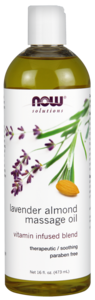 Lavender Almond Massage Oil 16 oz Now Foods
