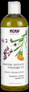 Lavender Almond Massage Oil 16 oz Now Foods