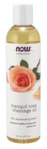 Tranquil Rose Massage Oil 8 oz Now Foods