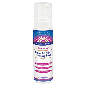 Colloidal Silver Foaming Soap - Unscented