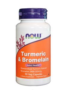 Turmeric & Bromelain 90 Vcaps Now Foods