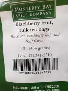 Blackberry Fruit Tea Bags 1lb