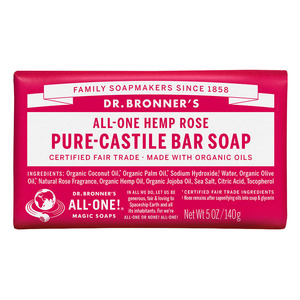 Dr Bronners Bar Soap-Rose
