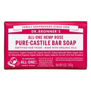 Dr Bronners Bar Soap-Rose