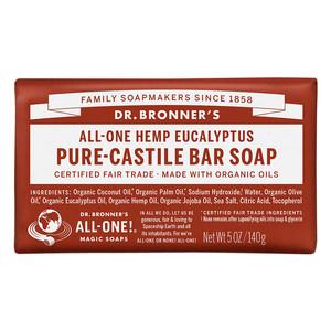 Dr Bronners Bar Soap-Eucalyptus