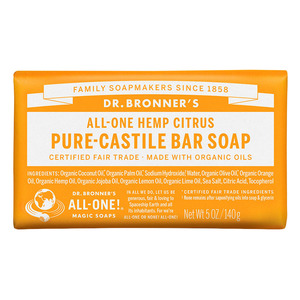 Dr Bronners Bar Soap-Citrus